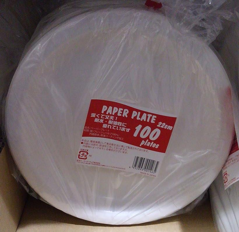 非アクティブ小さな印象的ペーパーウェア 使い捨て食器 ペーパープレート 耐水?耐油 耐水?耐油?22cmx100 552826