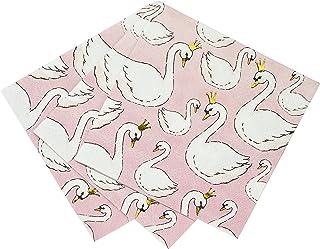 Talking Tables - 16 Petites serviettes en papier Cygne rose poudré 25 x 25 cm