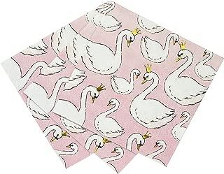 Talking Tables We Heart Swan, Cocktail Paper Napkins, Pink, 25cm (16 pack in1 design)