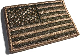 3 X 2 Inch Coyote Brown Spice US Made American Patriotic Flag Durable USA Morale Uniform Patch (Empire Tactical USA)
