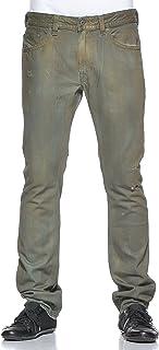Men's Jeans Thavar 30Wx32L Slim Skinny Green and gold 0807J