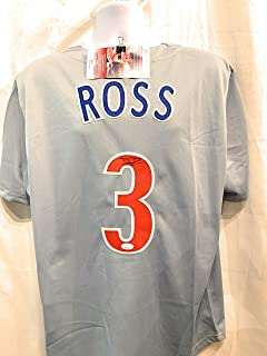 David Ross Chicago Cubs Signed Autograph MLB Custom Grey Jersey JSA Witnessed Certified