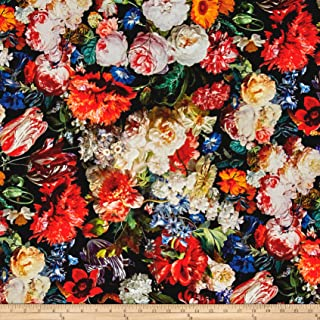 Hoffman Fabrics Mastery Digital Print Hoffman Challenge Floral Fabric by The Yard, Blooms