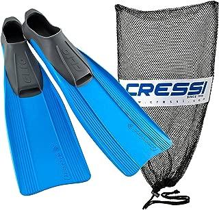 Cressi Clio Long Blade Full Foot Snorkel Fin 4/5 Blue