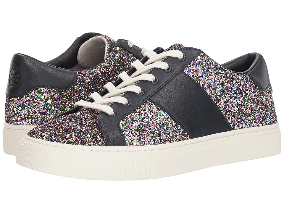 Tory Burch Carter Glitter Lace-Up Sneaker (Confetti Glitter/Perfect Navy) Women