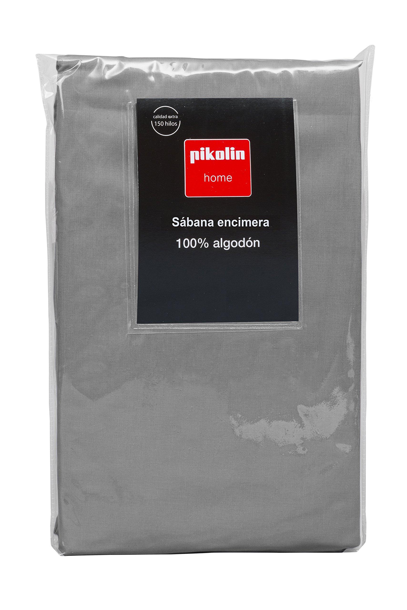 Pikolin Home - Sábana encimera, 100% algodón, 270x270cm, cama 180, colorgris (Todas las medidas): Amazon.es: Hogar