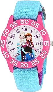 ساعة ديزني فروزن كوارتز بلاستيك و نايلون للبنات - اللون: أزرق - W002993
