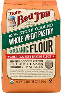 Bob's Red Mill Organic Pastry Flour Whole Wheat, 48 Ounce (Pack of 4)