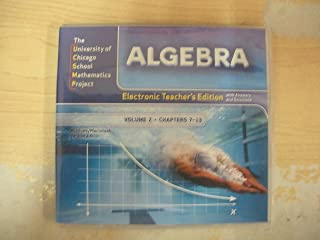 Electronic Teacher's Edition with Answers and Solutions (UCSMP Algebra, Volume 2)