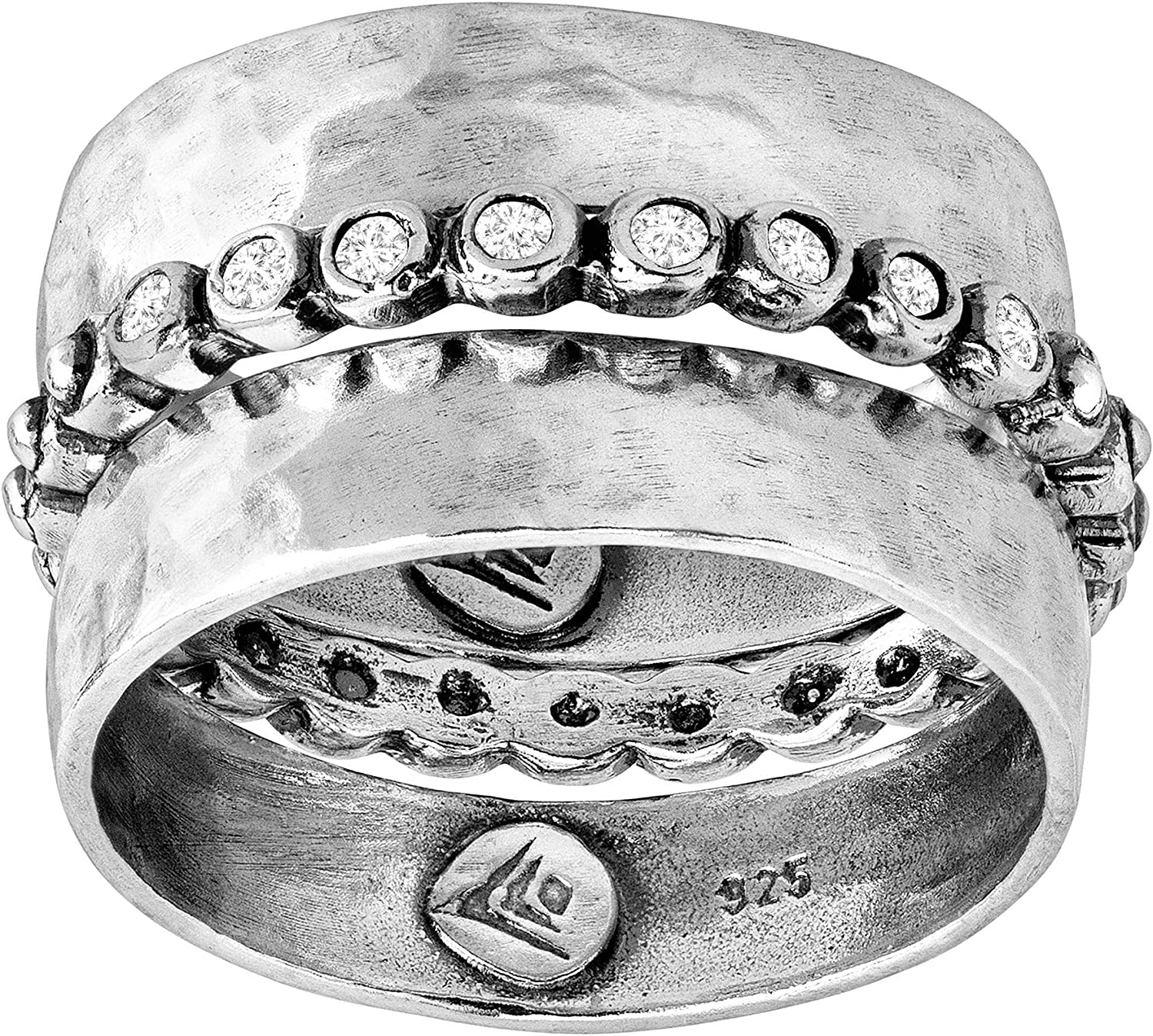 Silpada 'Space Race' Cubic Zirconia S Excellence In a popularity Stacking Sterling Rings in