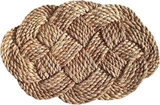 Green Breeze Imports Small Oval Abaca Weave Doormat