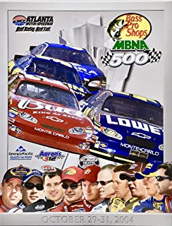 2004 - NASCAR/Nextel Cup Series - Atlanta Motor Speedway - Bass Pro Shops MBNA 500 - Official Program - Rare - Collectible