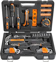 VonHaus 65 Piece Homeowners DIY Tool Kit - General Household Hand Tool Kit with Ratchet Wrench, Screwdriver Set, Socket Kit, Pliers in a Molded Storage Case - Perfect Gift for Beginners