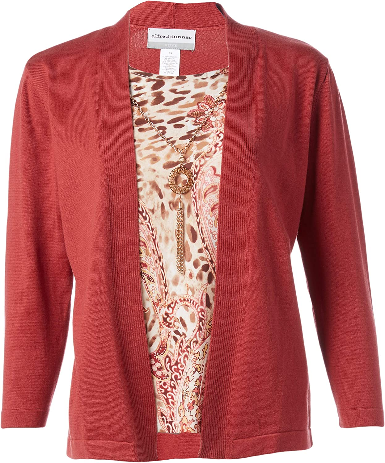 Alfred Dunner Women's Petite Two for One Sweater