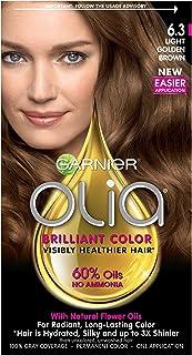 Garnier Olia Ammonia-Free Brilliant Color Oil-Rich Permanent Hair Color, 6.3 Light Golden Brown (1 Kit) Brown Hair Dye (Pa...