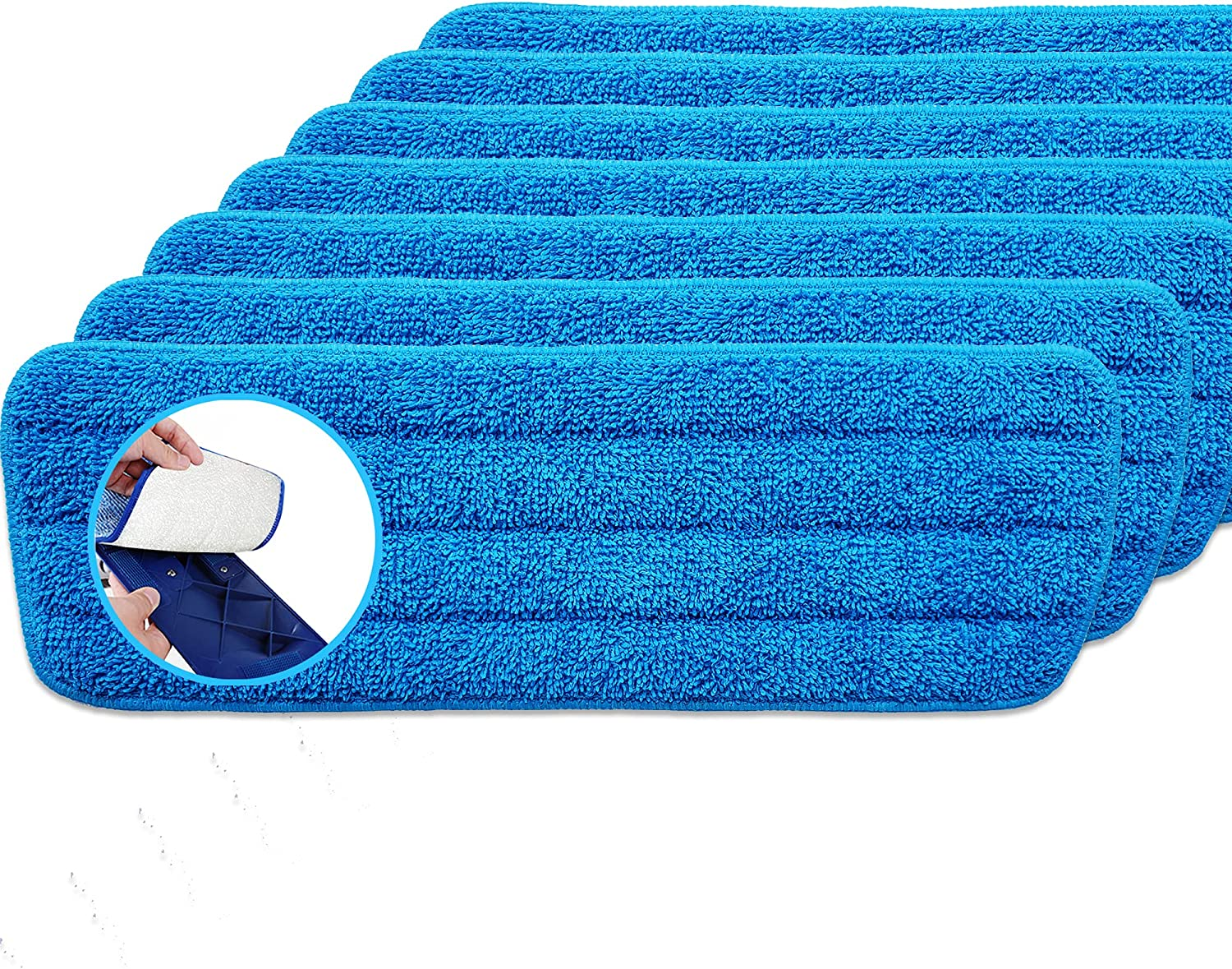 Reusable Minneapolis Mall Mop Pads 7 Pack Compatible Care with Bona Floor Ranking integrated 1st place System