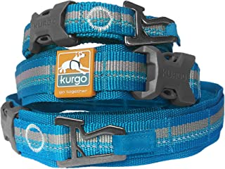 Kurgo Extra Wide Comfort Collar for Dogs | Molle Compatible Dog Collar | Reflective | quick Release Buckles | Bottle Opene...