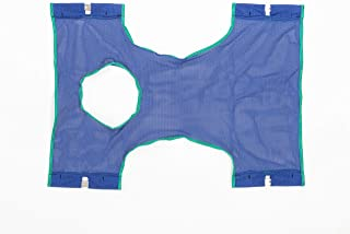 Invacare Standard Sling with Commode Opening for Patient Lifts, Polyester Mesh, 9047