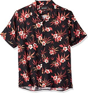 Men's Lost Paradise Print Button-Down Shirt with Classic Collar