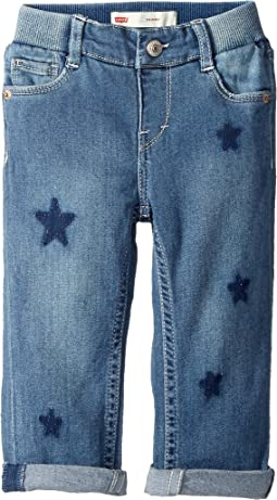 Rib Waistband Skinny Jeans w/ Destruction (Infant)