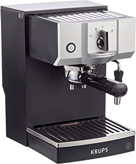 Krups Steam & Pump Máquina De Espresso, 1400 W, Acero Inoxidable, Negro/Plateado