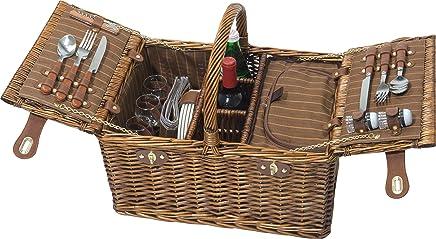 4 Personen Luxus-Kühltasche Picknick-Korb Picknickkorb-Set mit 12 12 12 Stück Besteck Set B00YCOLJ3M | Neuer Eintrag  6626c1