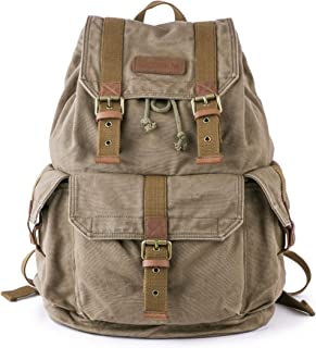 Gootium Canvas Backpack - Vintage Outdoor Rucksack Travel Day Pack