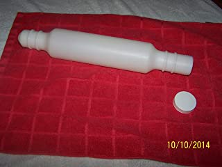 Tupperware Vintage Rolling Pin White with Screw on Cap 15