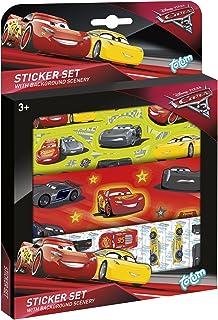 Totum - BJ140073 - Set d'Autocollants - Cars Disney