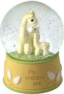 Precious Moments Resin/Glass Precious One Giraffe Musical Snow Globe, Yellow