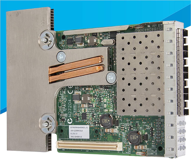 Dell 540-BBEV Internal Ethernet/Fiber 10000Mbit/s Broadcom 57840S Quad-Port SFP+ converged NDC QLogic 57840S Quad 10GbE SFP+/DA rNDC Quad-Port 10GbE SFP PowerEdge R630, R730, R730XD