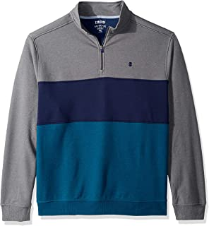 Men's Big and Tall Advantage Performance Colorblock Quarter Zip Fleece Pullover