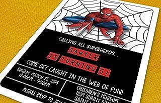 Amazon Com Birthday Invitation Cards For Girls Spider Man