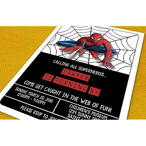 Spiderman Birthday Invitations Amazon