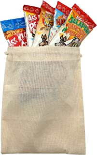 Spicy Hot Nut Sack Gourmet Snacks in Burlap Gift Bag