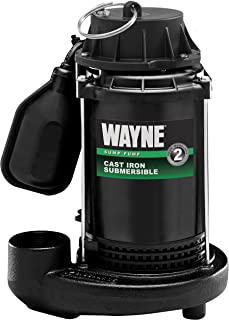 WAYNE CDT50 1/2 HP Cast Iron Submersible Sump Pump With Tether Float Switch