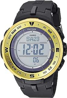 Casio Men's ProTrek Stainless Steel Quartz Watch with Resin Strap, Black, 24 (Model: PRG-330-9ACR)