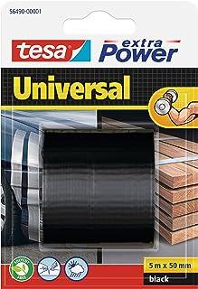 Tesa 56490-00001-01 Nastro universale extra potente, nero, 5 m x 50 mm