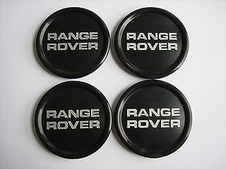 """Range Rover Land Rover Wheel Center Cap Silver 2 7//16/"""" Green Logo Background"""