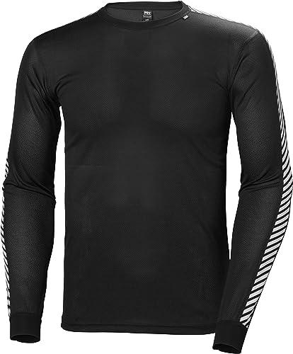 Helly Hansen Stripe Crew Tee-shirt hommeches longues homme Noir XL