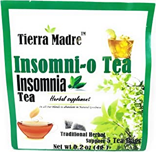 Tierra Madre Insomnio (Insomnnio) Traditional Herbal Support - Pack of 5 / 0.4oz Each Bag