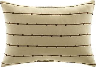 CROSCILL Home Fashions Bali Cream Boudoir Pillow, 20-Inch by 14-Inch
