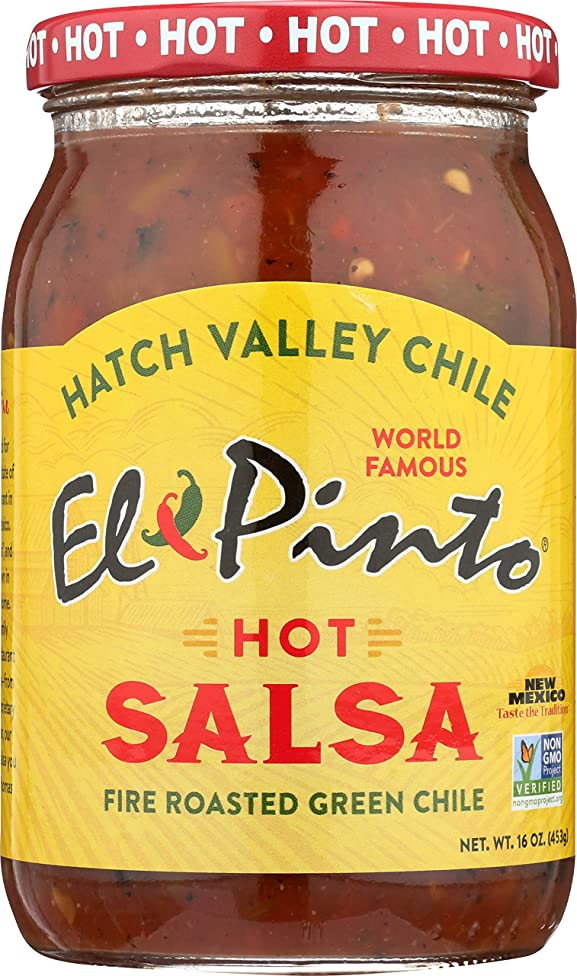 El Pinto Hot Salsa, 16 Ounce (Pack of 6)