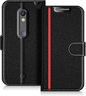 fdc61a5055b COODIO Funda Motorola Moto X Play, Funda Cuero Motorola Moto X Play, Funda  Cartera