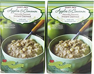 Trader Joe's Apple & Cinnamon Naturally Flavored Instant Oatmeal (2 Pack)