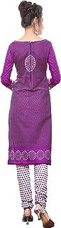 Minu salwar Cotton Printed Suit sets Purple(Pbeauty_6010_0)