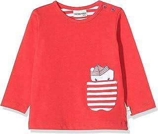Salt & Pepper Baby Girls' Mit Kleiner Gestreifter Tasche Longsleeve T-Shirt