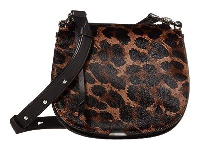 AllSaints Kim Small Round Crossbody (Black) Handbags
