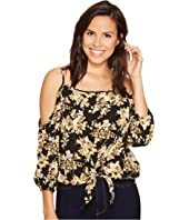 ROMEO & JULIET COUTURE - Floral Printed Cold Shoulder Top