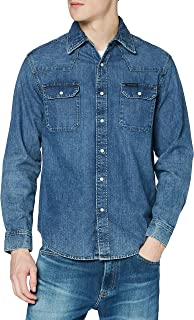 Calvin Klein Jeans Men's Archive Western-Soho Blue Casual Shirt